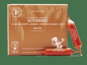 Acti'Bronz - teint hâlé - belle peau - naturel - secrets de Miel
