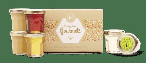 coffret des gourmets - miels - naturels - secrets de miel