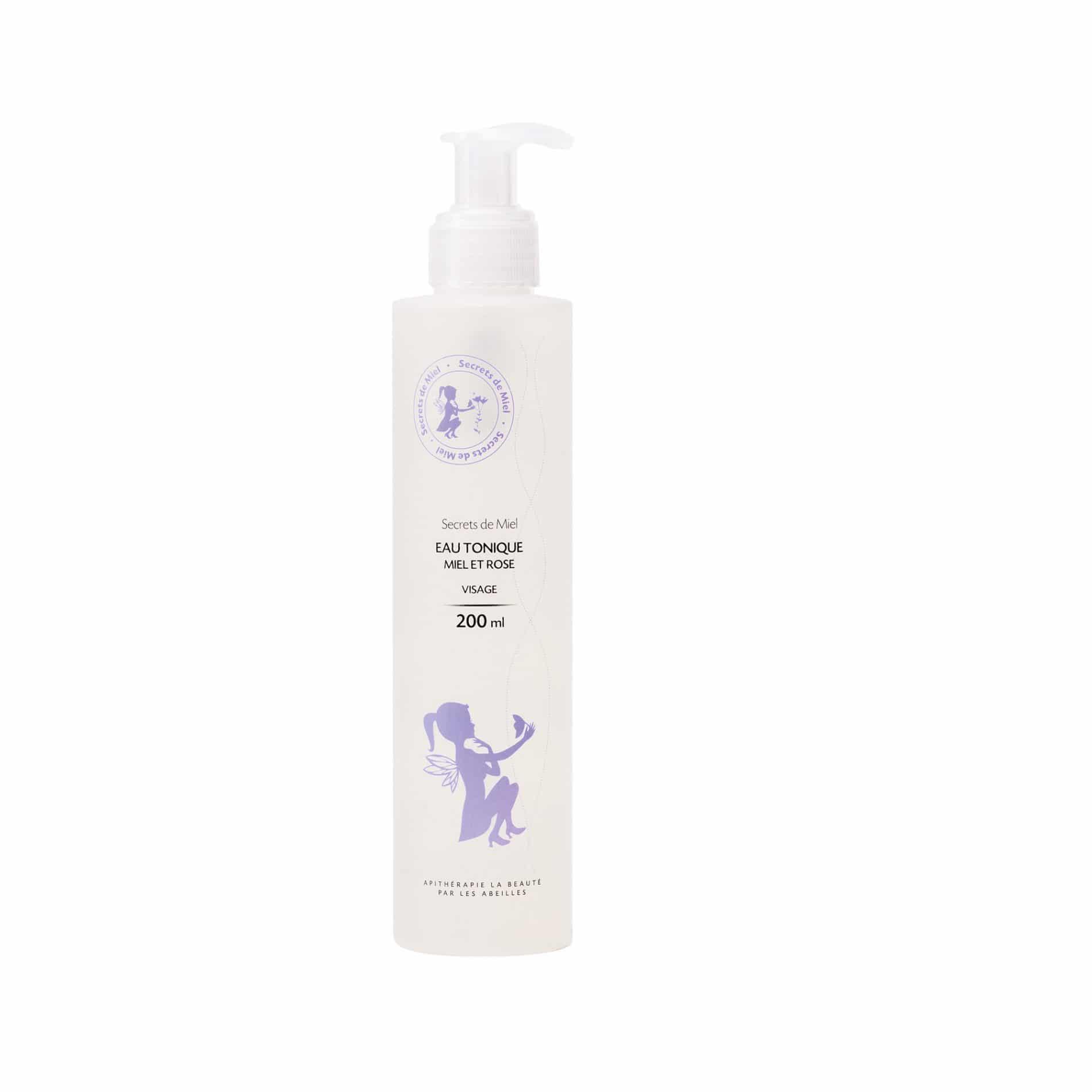 Eau tonique - Miel - Rose - Bon pour la peau - Nettoie le visage - Produit naturel - Secrets de Miel