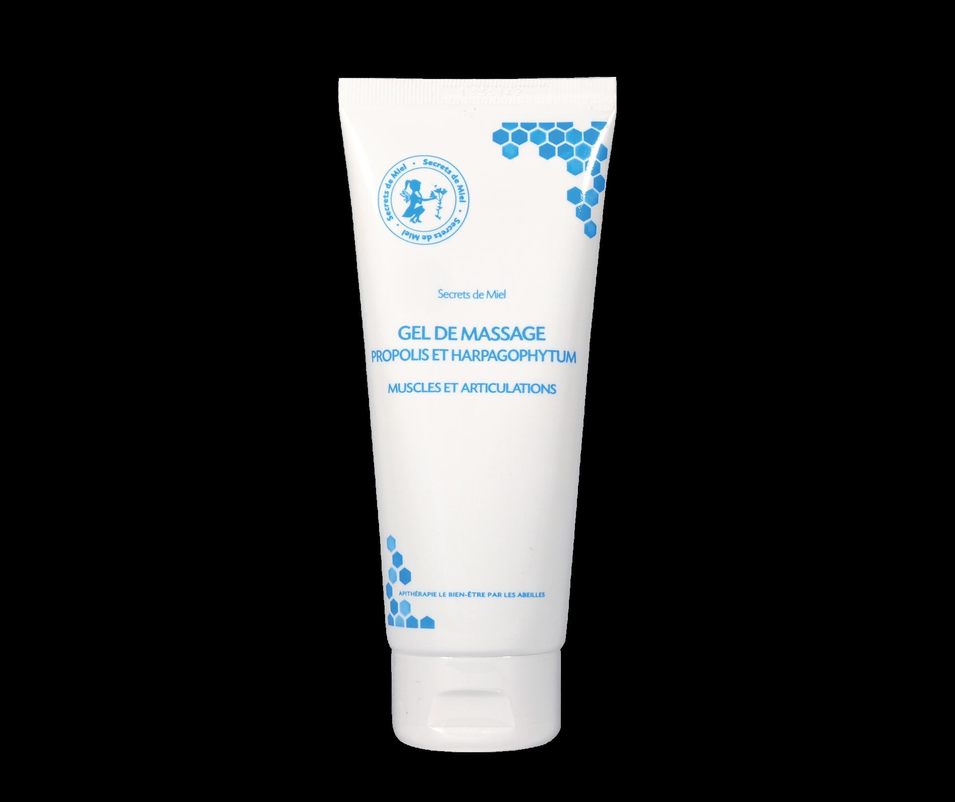 Gel de Massage - Propolis - Frais - huiles essentielles - Plantes - Produit naturel - Apaisant et calmant - Secrets de Miel
