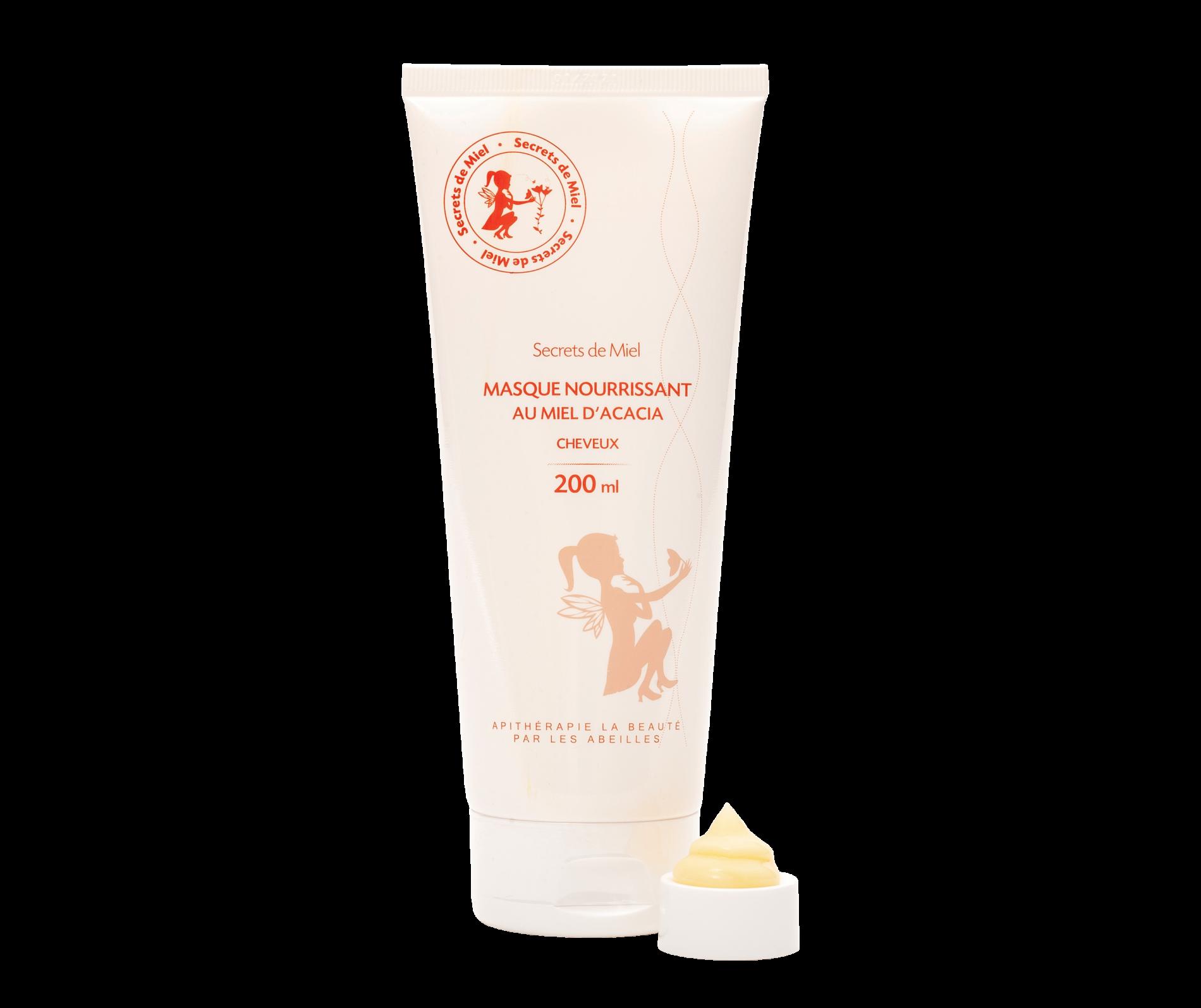 Masque nourrissant - routine cheveux naturels - produits naturels - Secrets de Miel - Apithérapie