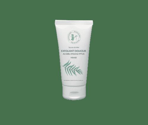 soin exfoliant - exfoliant douceur - miel d'eucalyptus - soin du visage - peau nette - pureté de la peau