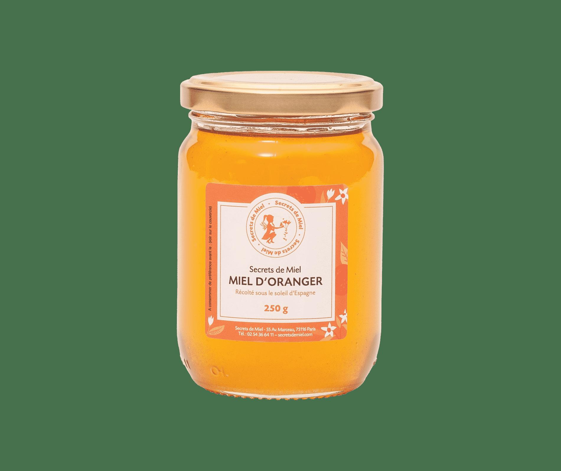 miel d'oranger - miel d'argumes - miel Secrets de Miel - miel liquide - miel fleuri