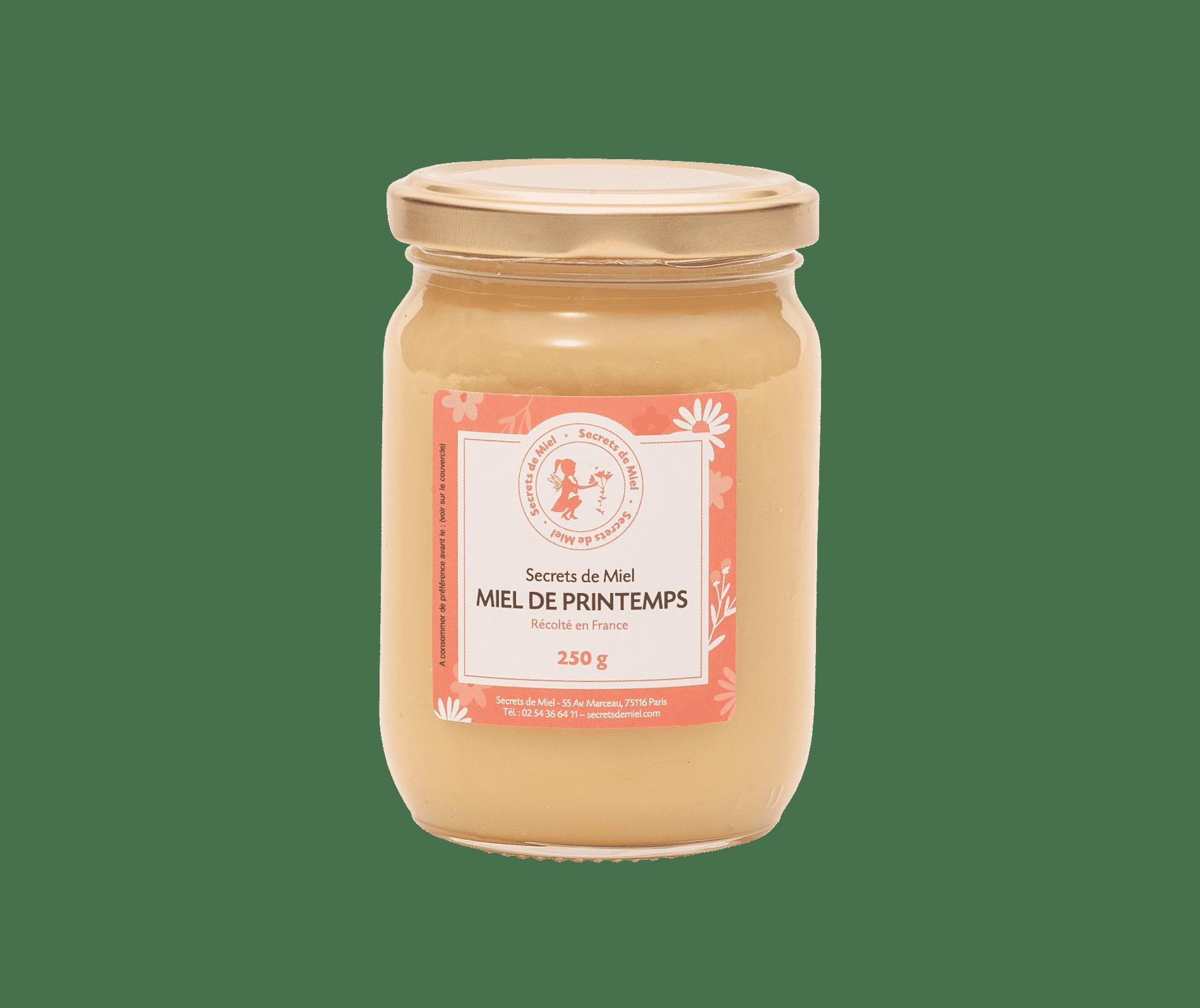 miel multifloral français - miel français - miel de Printemps - Secrets de Miel - miel doux et crémeux