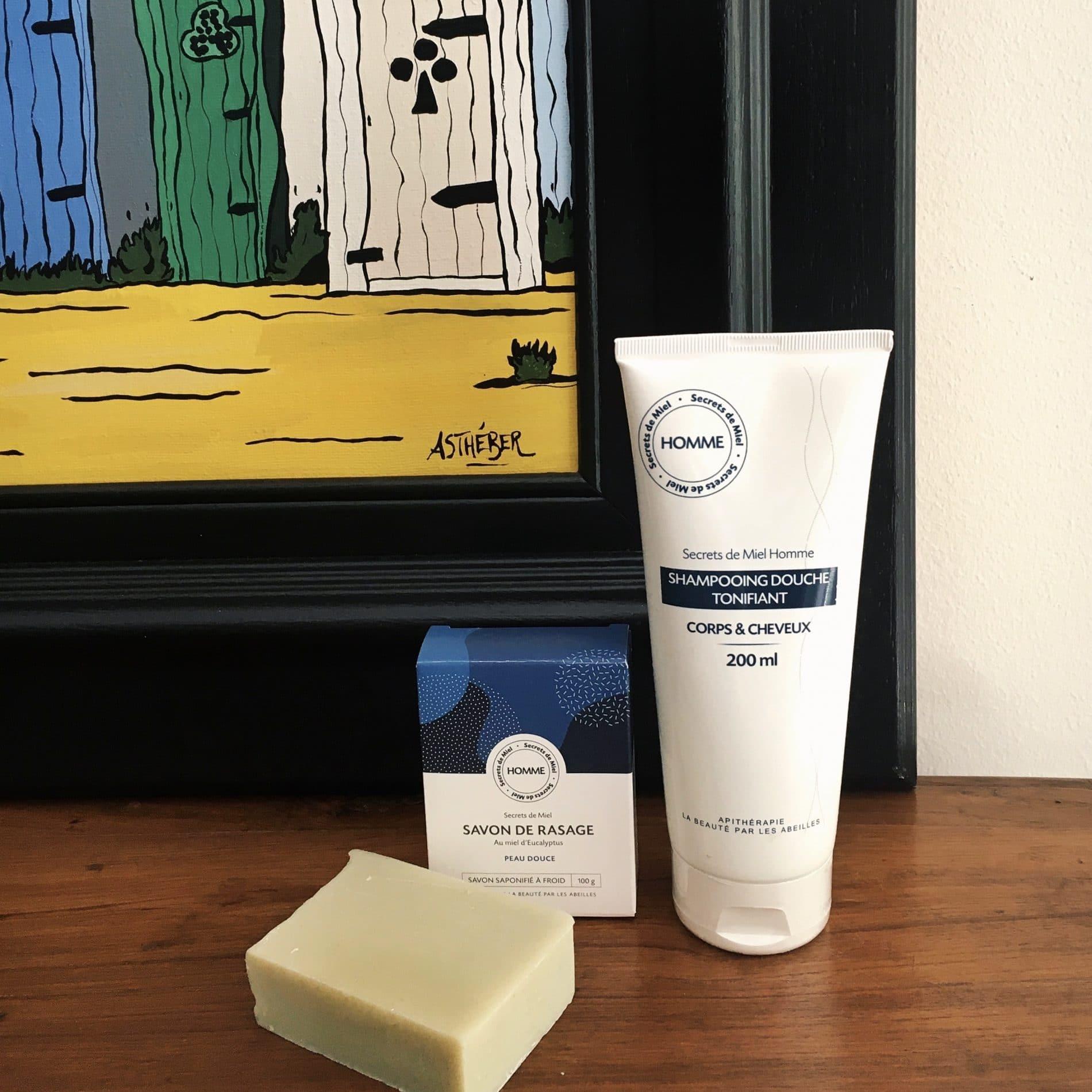 Shampooing douche tonifiant - Secrets de Miel - produits naturels - shampooing homme - apithérapie - shampooings naturels