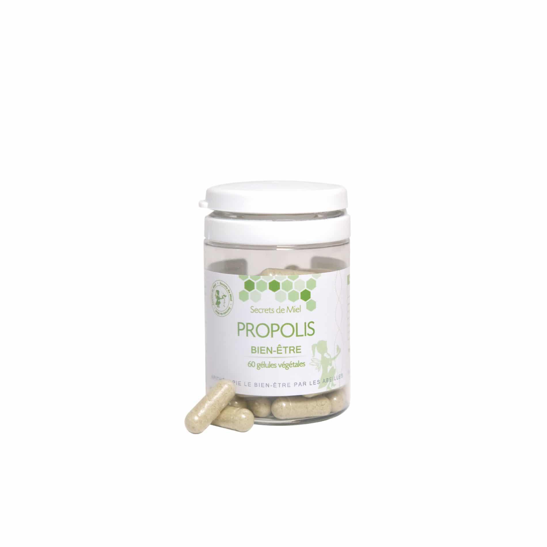 Propolis - Gélules - Plantes - Défense - Tonus - Forme - Vertus - Produits naturels - Secrets de Miel
