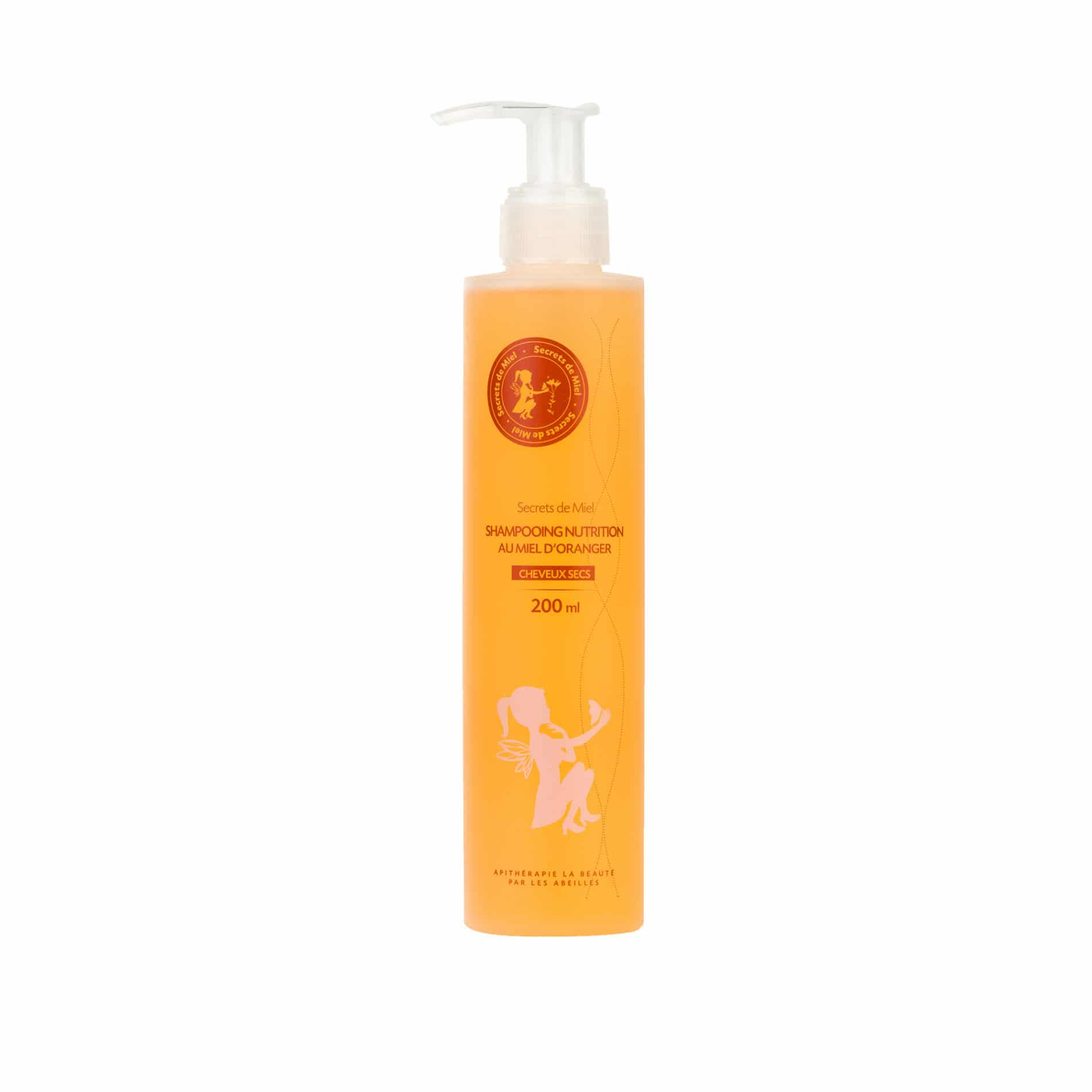 Shampooing Nutrition - Miel d'Oranger - Miel - Ruche - Abeille - Nourrit les cheveux - Produit naturel - Cheveux - Secrets de Miel