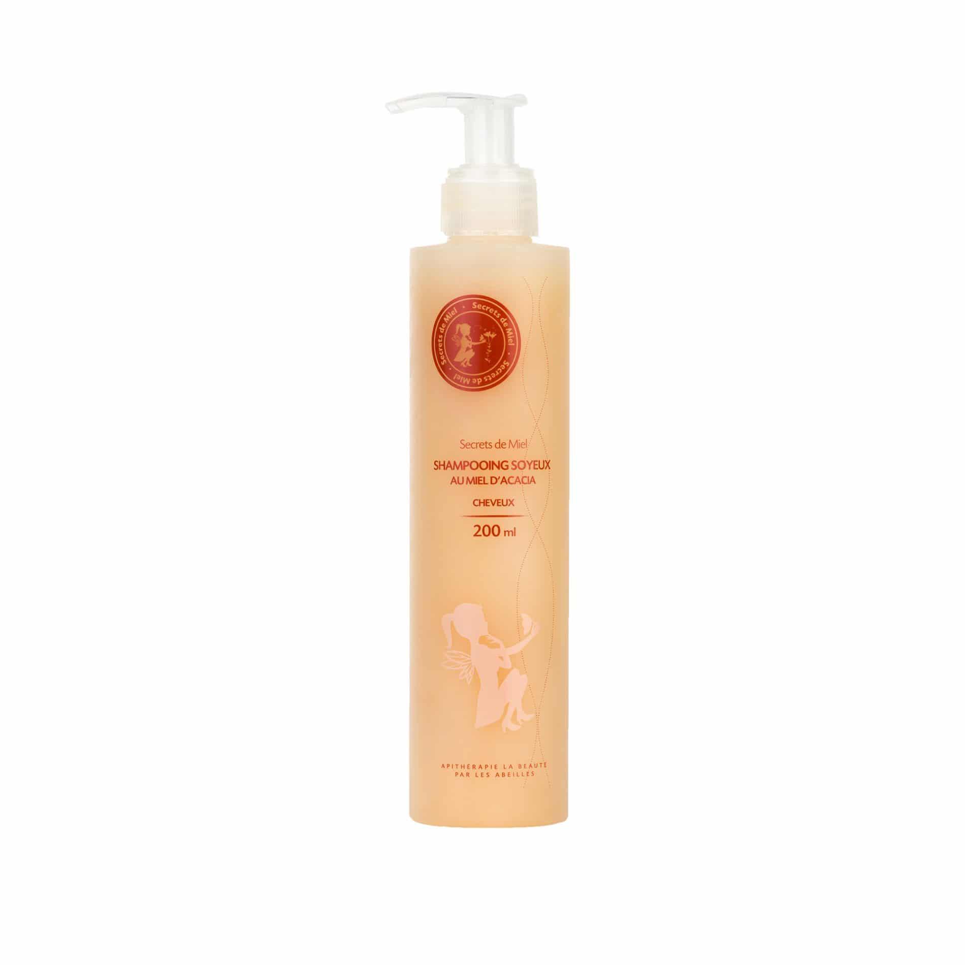 Shampooing Soyeux - Miel d'Acacia - Miel - Ruche - Abeilles - Produit naturel - Nourrit les cheveux - Hydrate et purifie les cheveux - Secrets de Miel