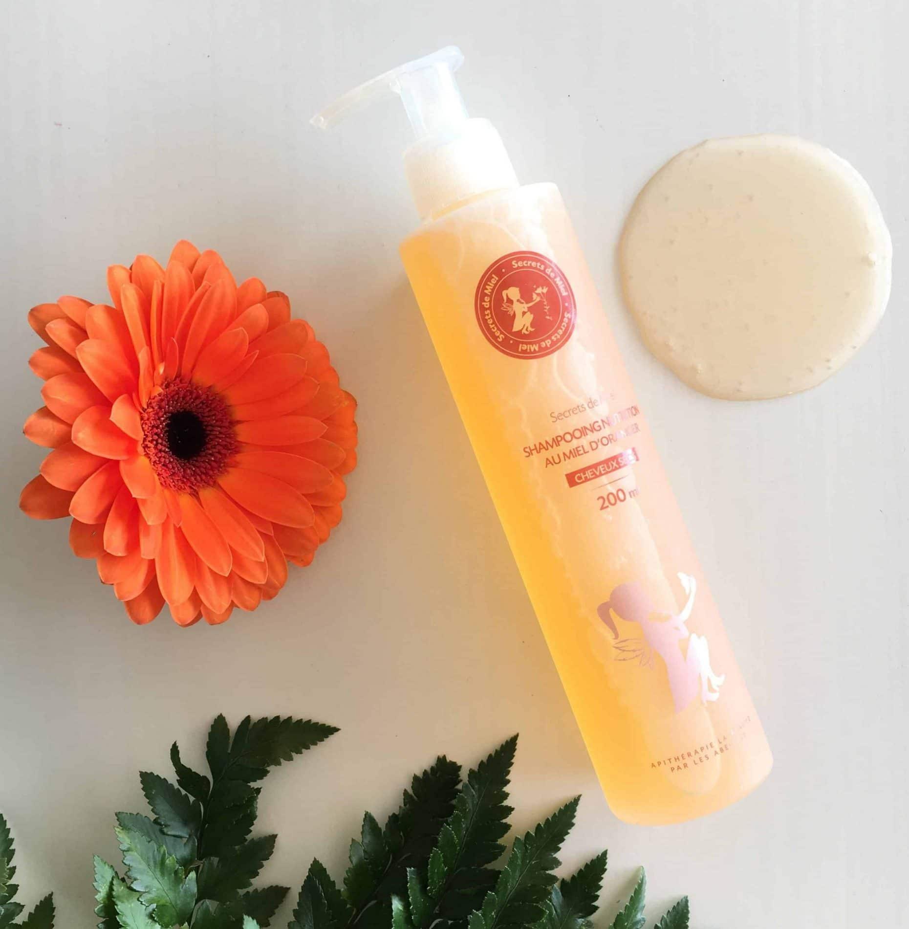 Shampooing au Miel d'oranger - Secrets de Miel - shampooings naturels - apithérapie