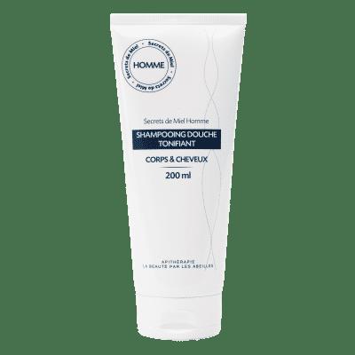 shampooing douche homme - tonifiant - soin douche - gel douche homme - 2 en 1 - produits naturels - fraicheur - détente - douche