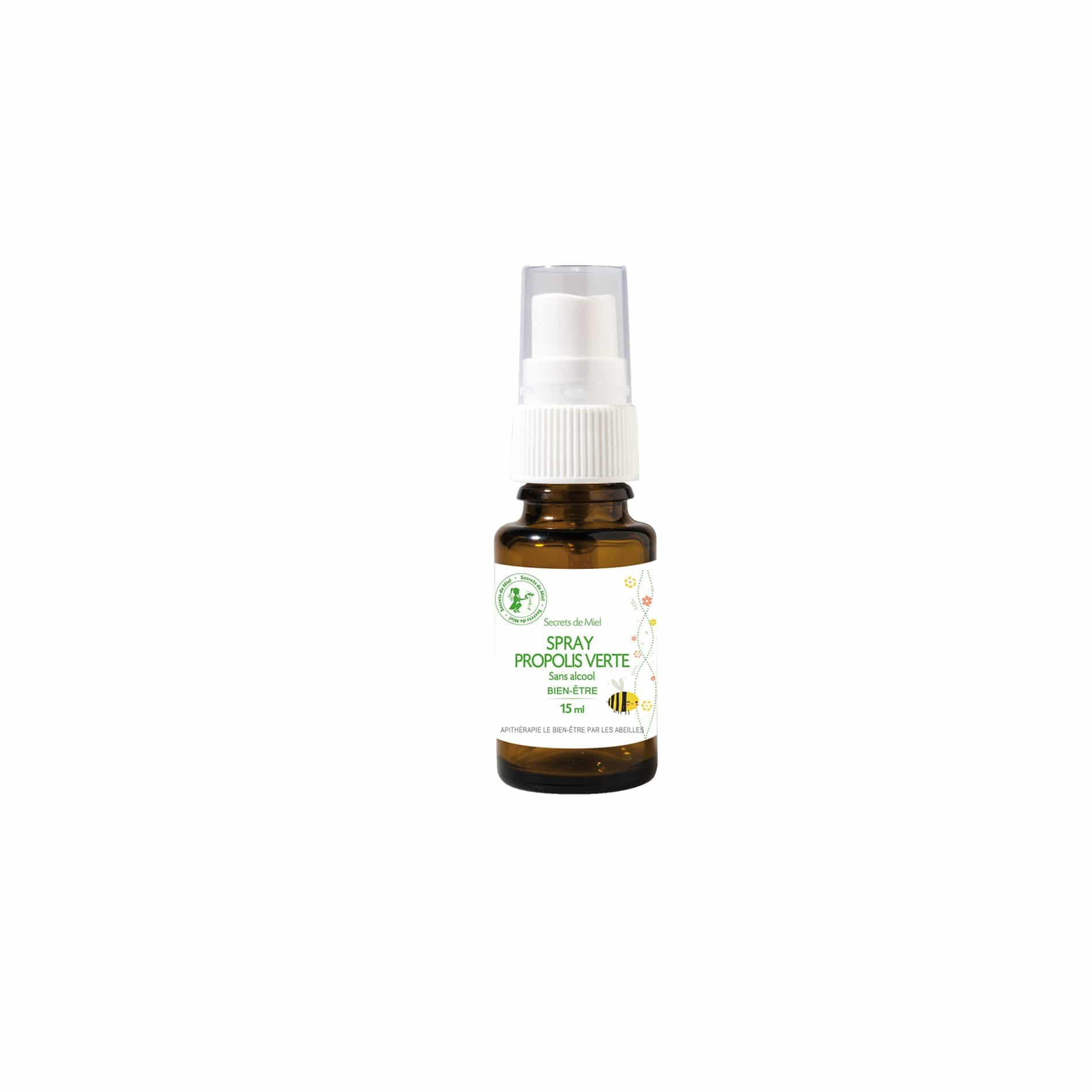 Spray Propolis Verte - Haleine pure - Voies respiratoires - Dégage - Assainit - Plantes - Secrets de Miel