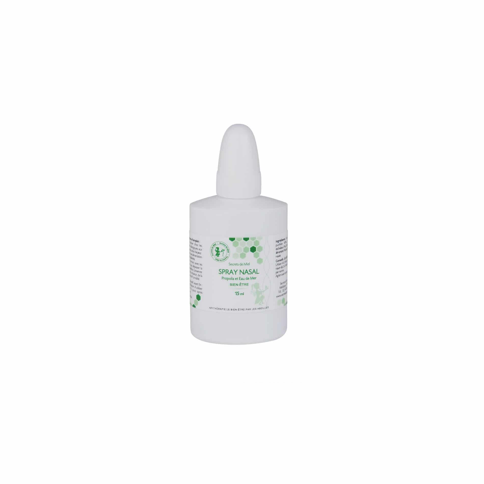Spray Nasal - produit naturel - plantes - malade - eau de mer - protège le nez - Secrets de Miel
