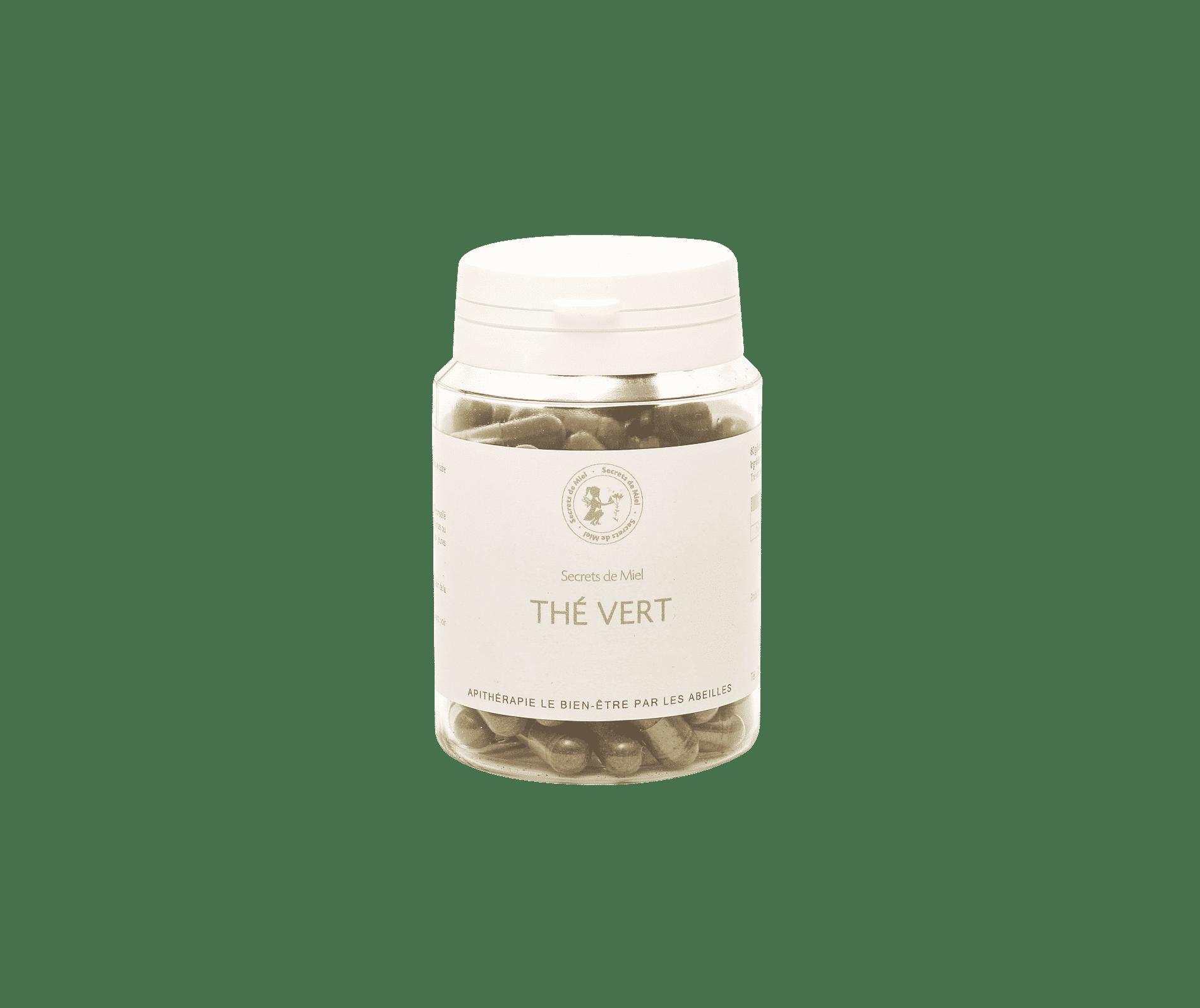 Gélules de Thé vert - Antioxydant - Stimulant - Perte de poids - Elimination de l'eau - Aide à dynamiser son organisme - Plantes - Produit naturel - Secrets de Miel