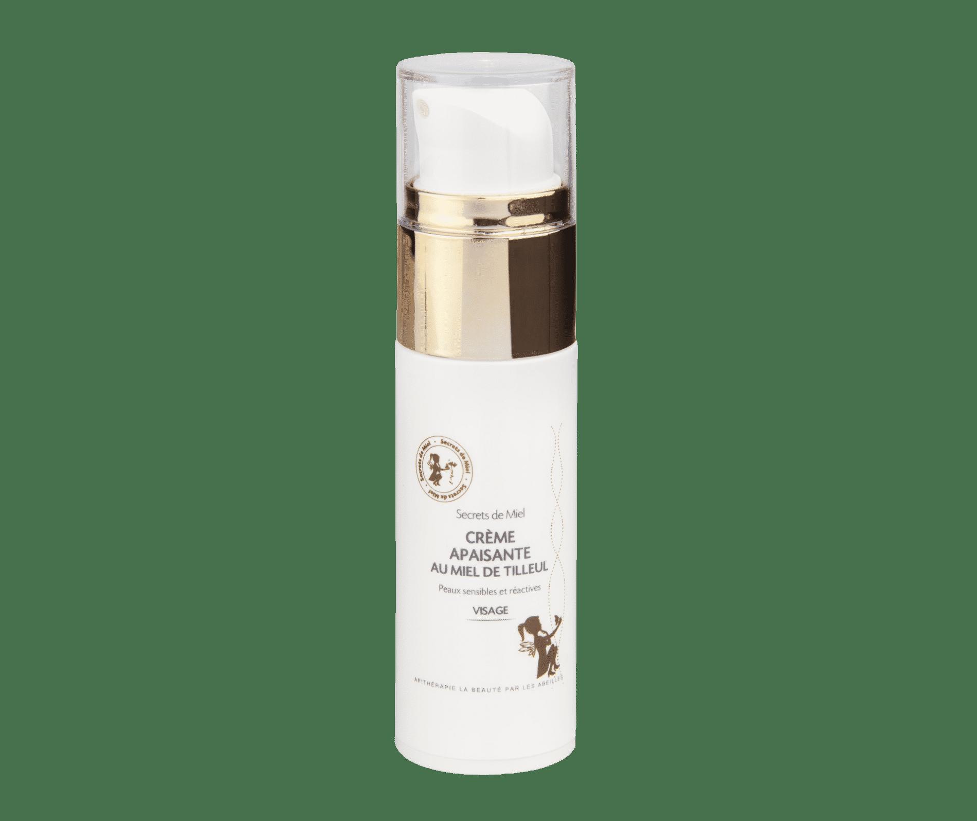 Crème Apaisante - Miel de Tilleul - Miel - Nourrit la peau - Pour les peaux sèches - Produit naturel - Secrets de Miel