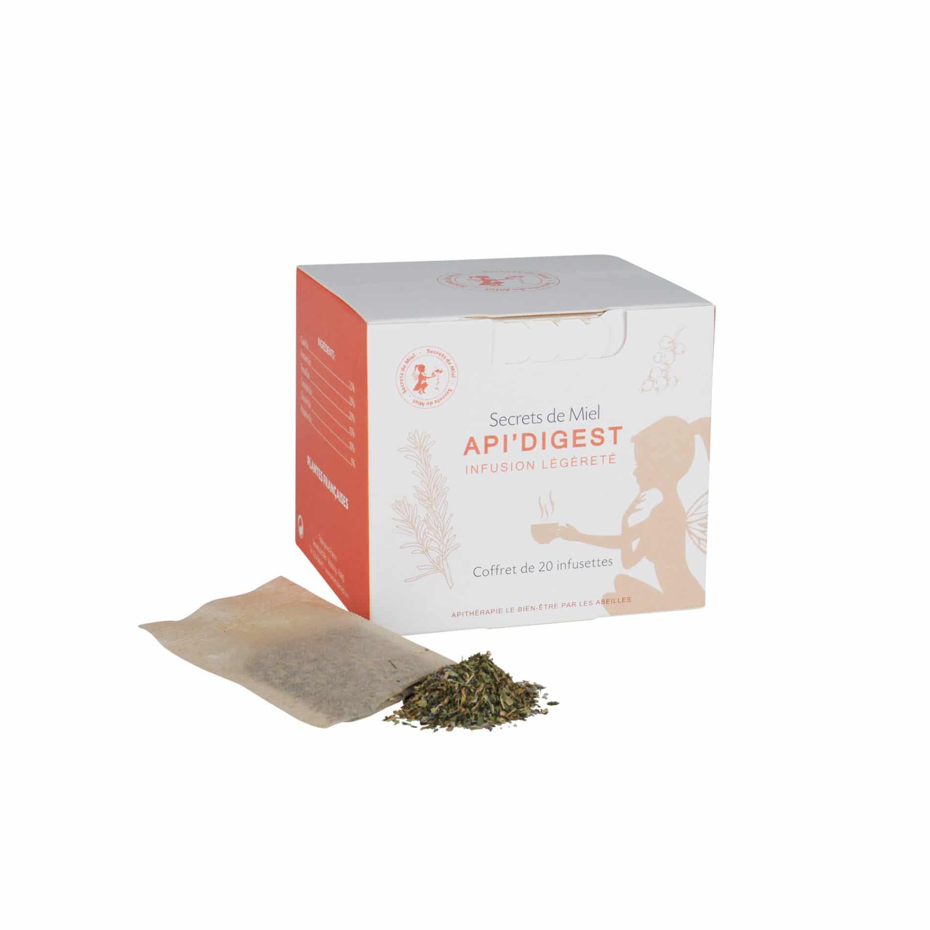 Infusion Api'Digest - Meilleure digestion - Plantes - Produit naturel - Secrets de Miel