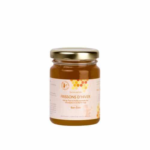 Frissons d'Hiver - Miel - Abeilles - ruche - Thym - huilles essentielles - malade - Bon pour les voies respiratoires - produit naturel - Secrets de Miel