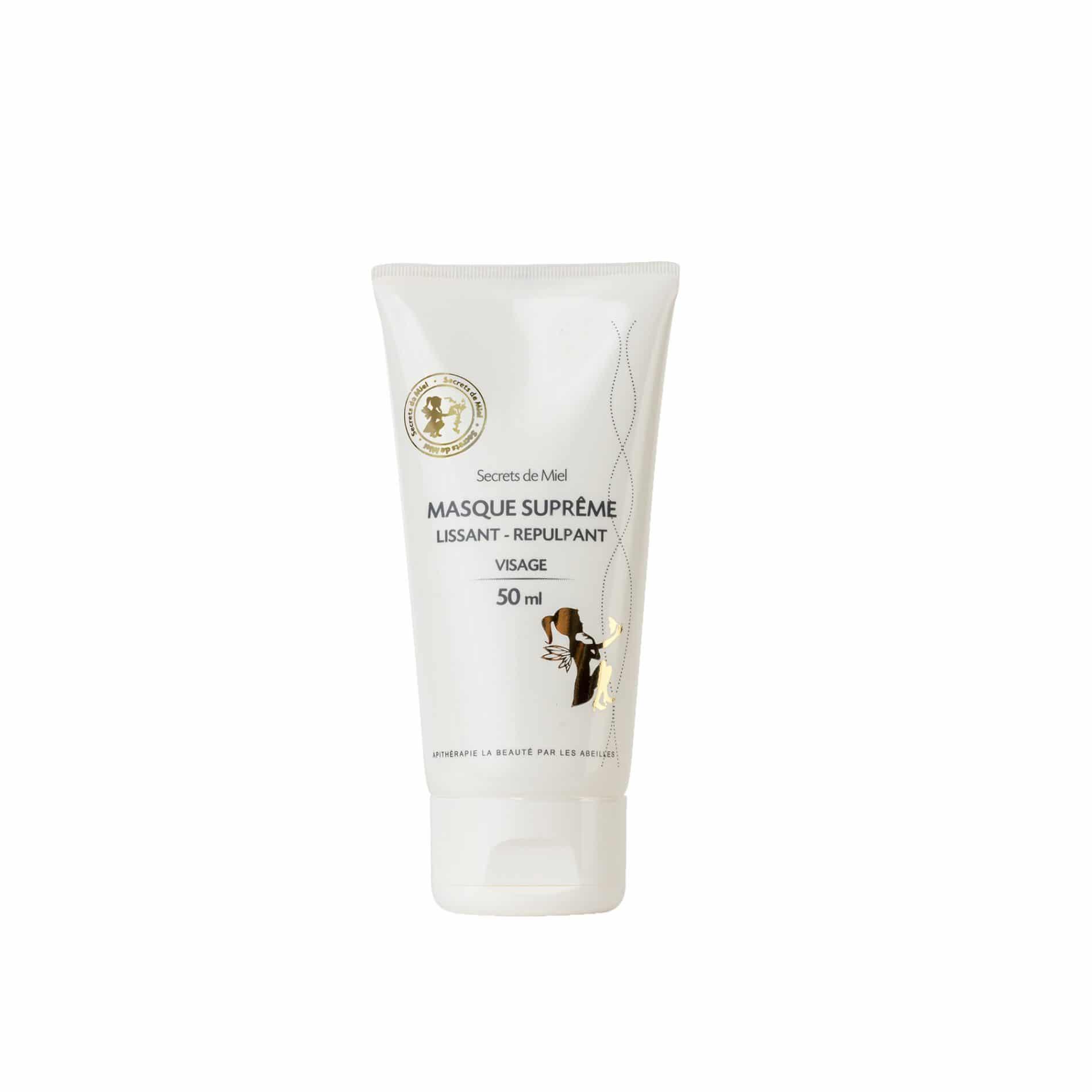 Masque Suprême - Gelée Royale - Rides et ridules - visage - Bon pour la peau - produit naturel - Secrets de Miel
