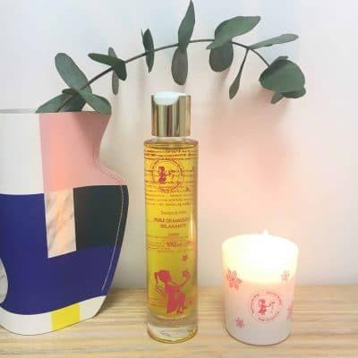 huile de massage - huile naturelle - produits naturels - massage bien-être - secrets de miel - apithérapie