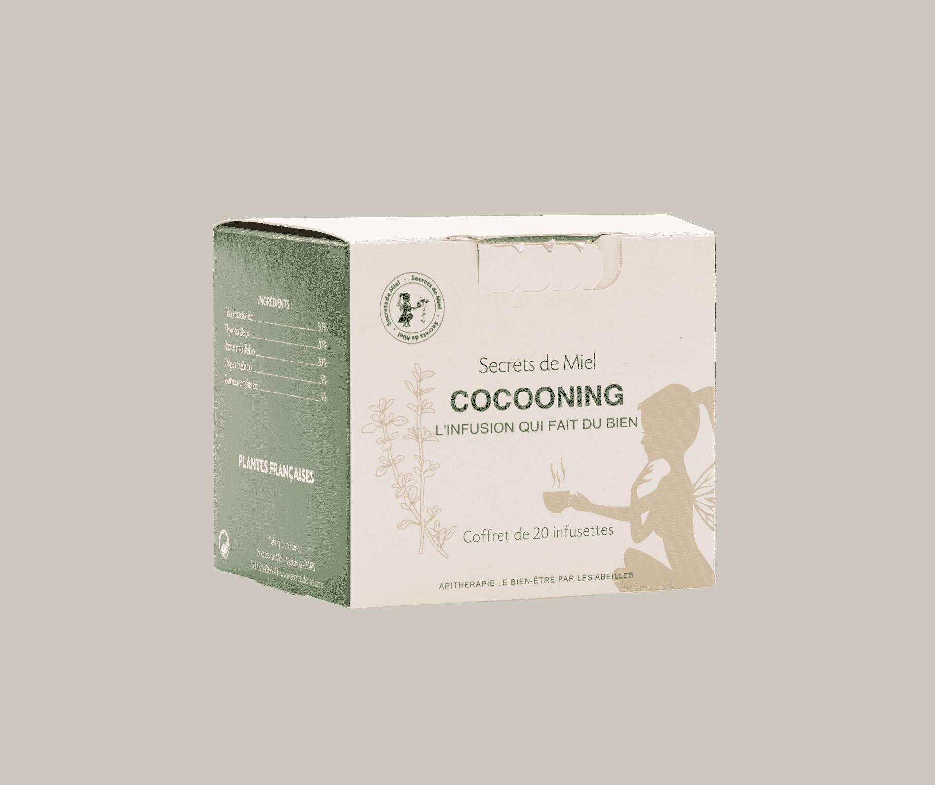 Infusion cocooning - produit anturel - bon pour le corps - secrets de miel