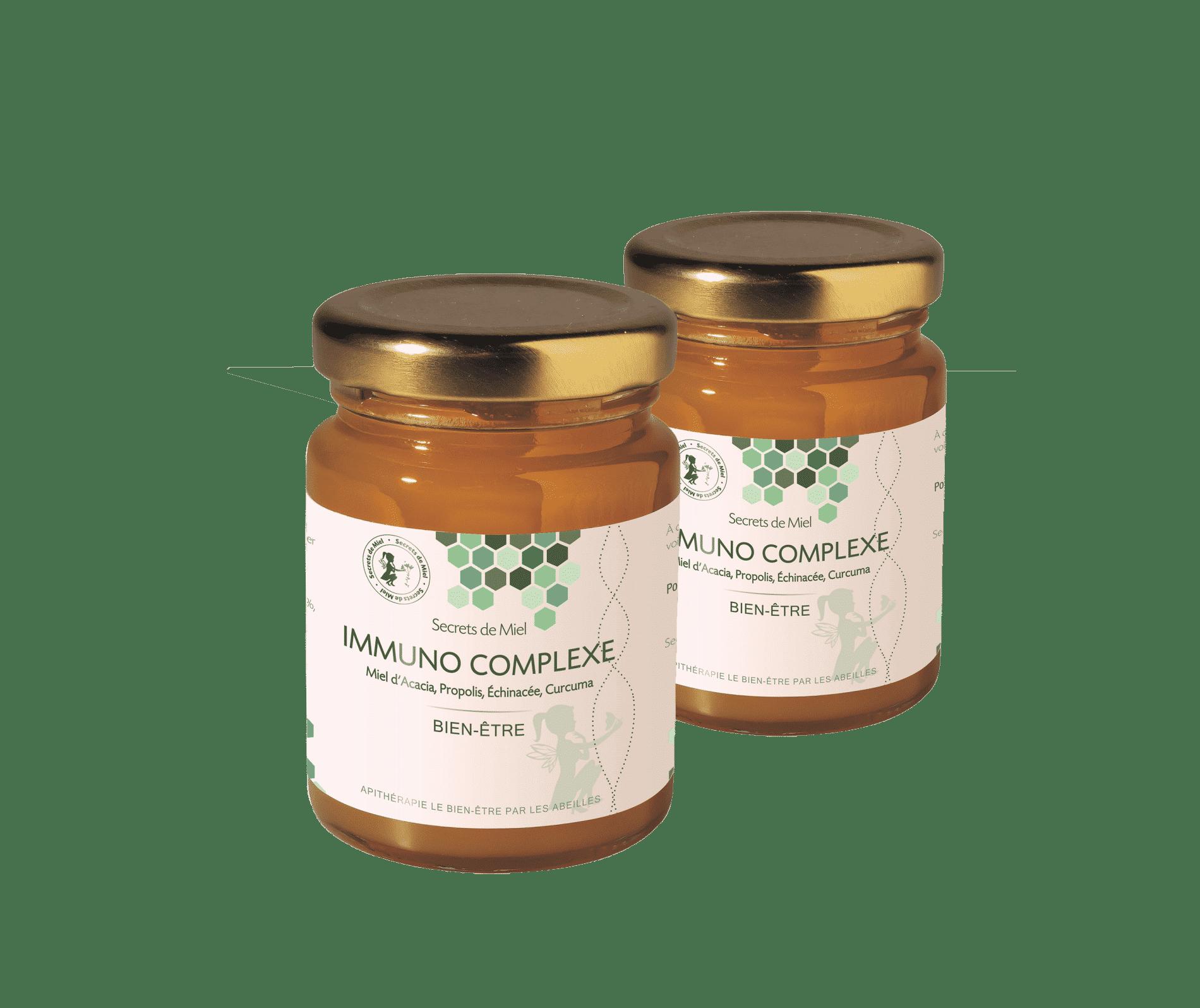 Immuno Complexe - Miel - abeilles - ruche - propolis - défenses immunitaires - bon pour le corps - produit naturel - produit de la ruche - Secrets de Miel