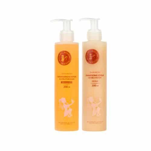 Duo shampooing -cheveux blancss et shampooing au miel d'Acacia - produits naturel - Secrets de Miel