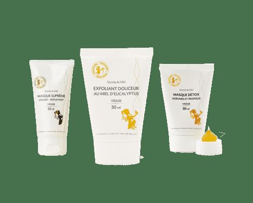 Duo exfoliant et masque - produit naturel - secrets de miel