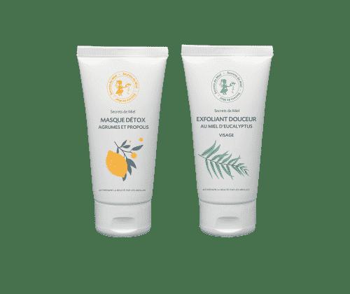 masque - exfoliant visage - produits naturels - cosmétiques - miel - douceur - pureté visage - soins visage - routine