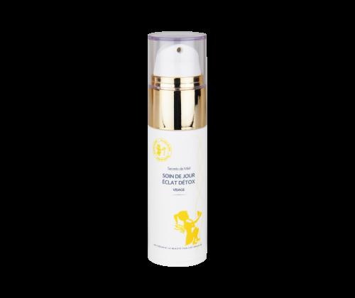 Soin de jour Eclat Détox - crème - visage - dépolluant - bon pour la peau - purifie - detoxifiant - produit naturel - Secrets de Miel
