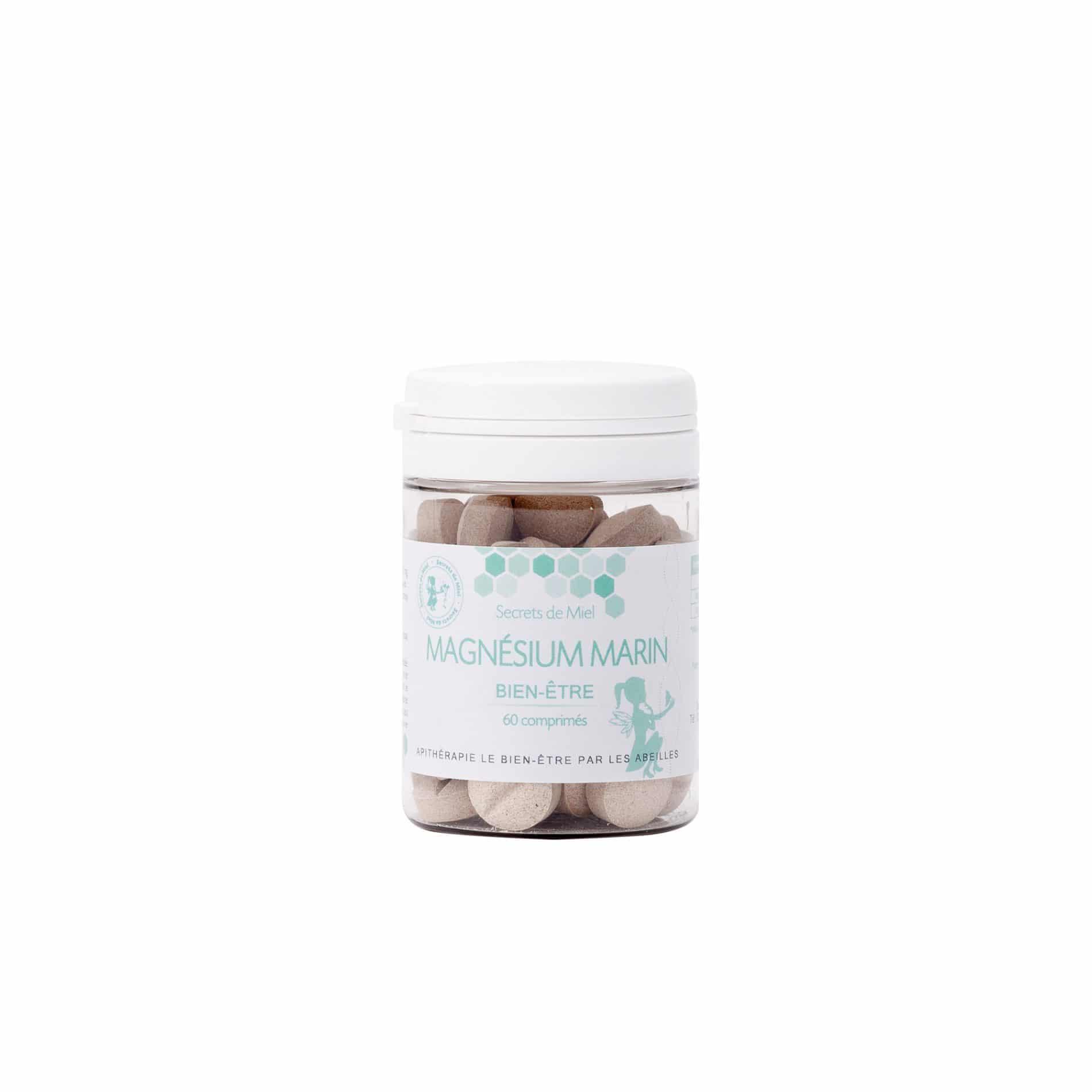 Magnésium marin - Stress - bon sommeil - calme - appaise - bon pour le corps - produit naturel - Secrets de Miel