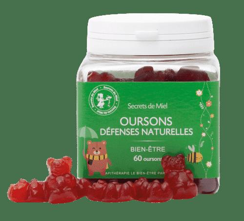 Oursons Défenses Immunitaires - Bon pour le coprs - Enfants - Vitamines - Défenses immunitaires - coup de boost - en forme - Produit naturel - Secrets de Miel