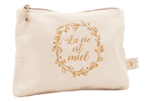 trousse - voyage - avion - cosmétiques - produits naturels - Secrets de Miel