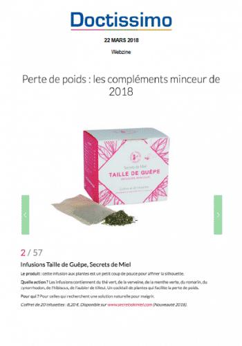 Taille de guêpe - magazine - parle de nous - presse - article - doctissimo