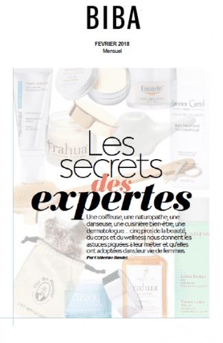 Gelée royale - biba magazine - on parle de nous - presse - article - secrets de miel