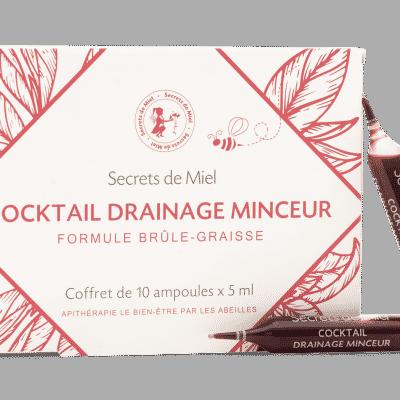 Cocktail drainage minceur - mincir - draine - produit naturel - actifs naturels - secrets de miel