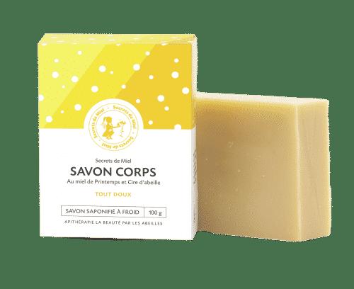 Savon solide corps - sapoinification à froid - naturel - bon pour la peau - secrets de miel