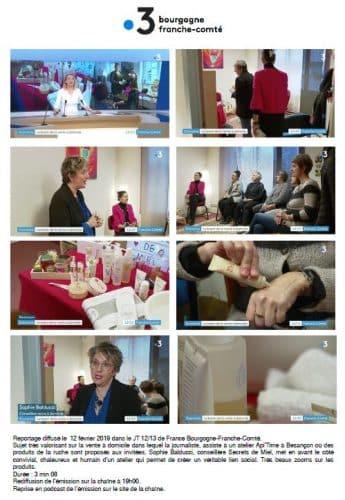On parle de nous - France 3 - TV - interview - secrets de miel - vente à domicile