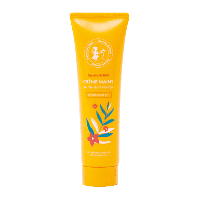 Crème mains hydratante - mains sèches - produits de la ruche - miel - Secrets de Miel