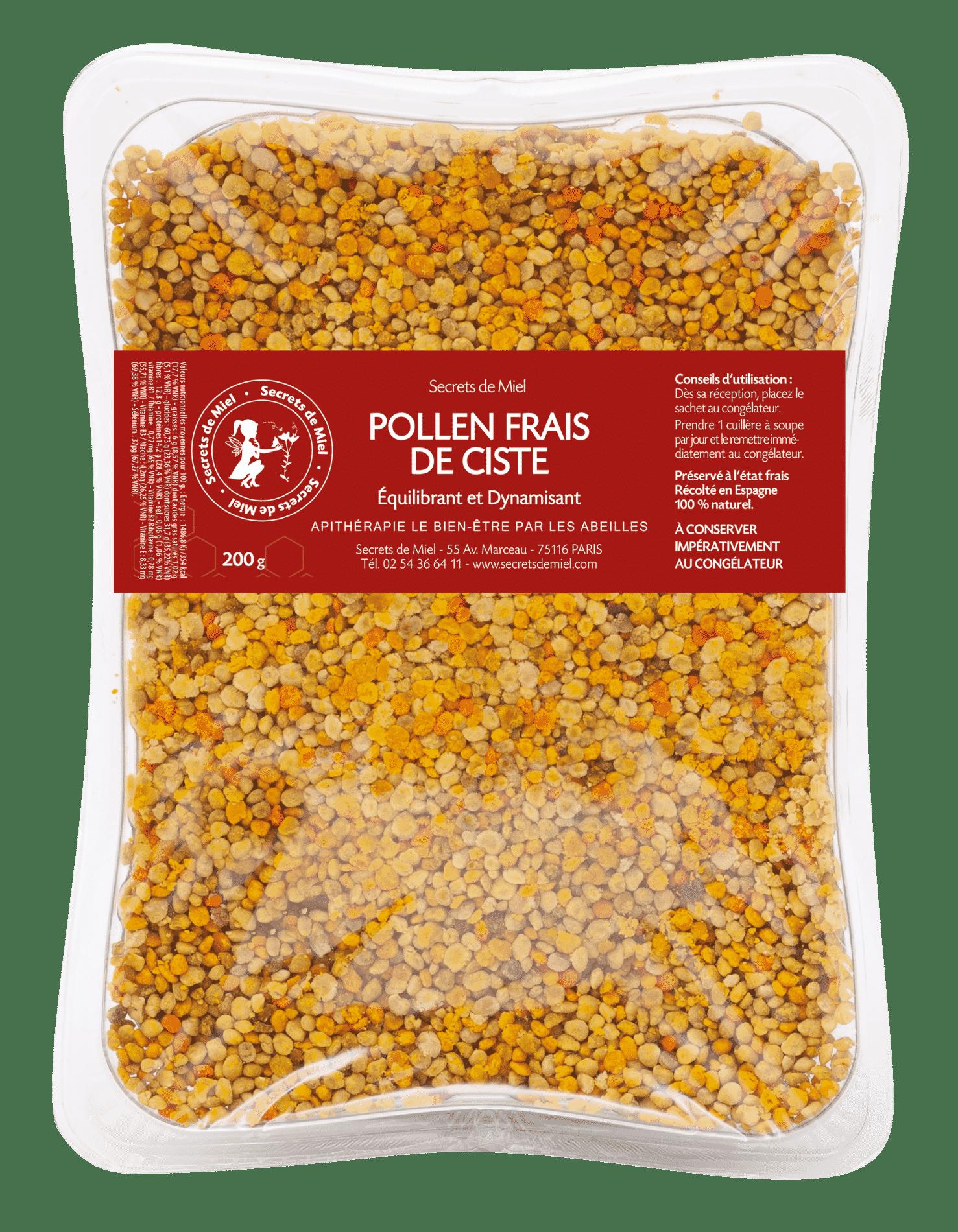 pollen frais - super aliment - équlibre intestinal - apithérapie - produits naturels
