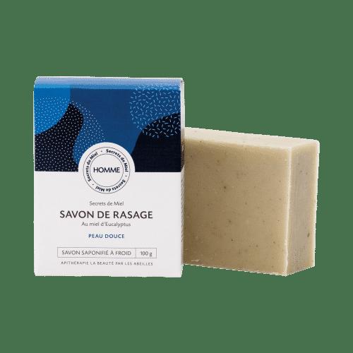 savond e rasage - miel - huiles nourrissantes - produits naturels - Secrets de Miel