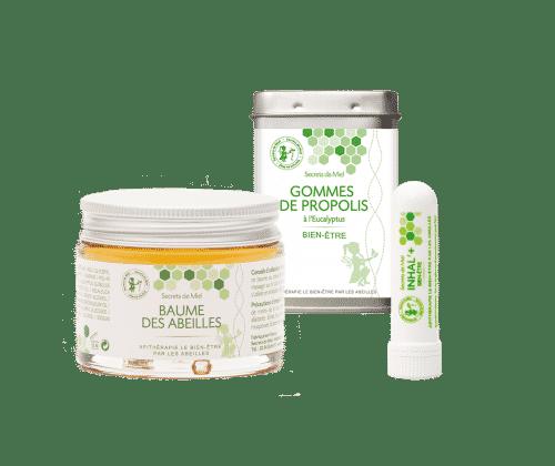 nez bouché - bronches encombrées - propolis - huiles essentielles - produits naturels - Secrets de Miel