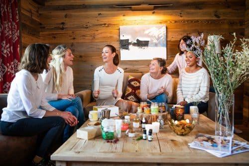 réunion - vente à domicile - amies