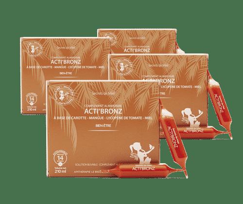 bronzage durable - Secrets de Miel - été - belle peau bronzée - produits naturels