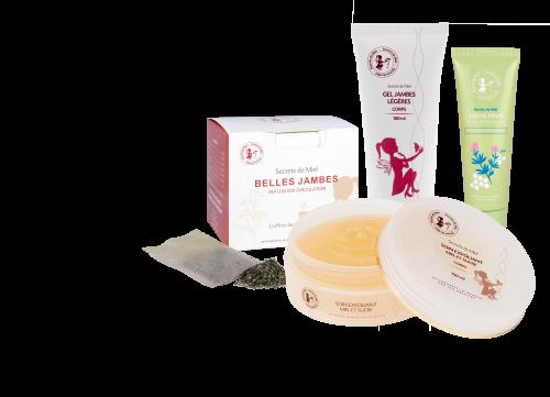 offre - circulation - hydratation - jambes - pieds - Secrets de Miel - produits naturels