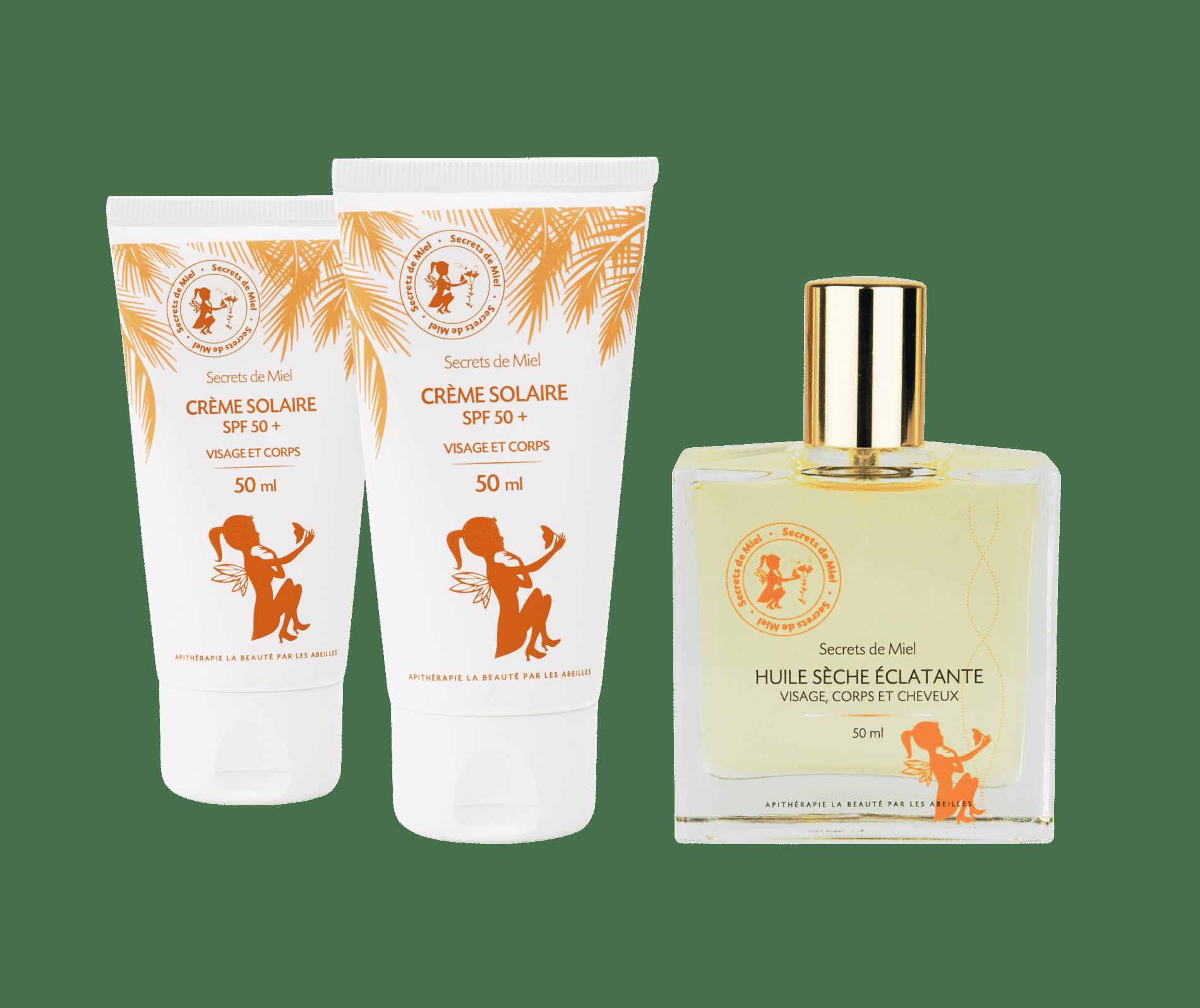 crème solaire - produits naturels - ruche - Secrets de Miel - huile nourrissante - soleil - été - offre cosmétiques