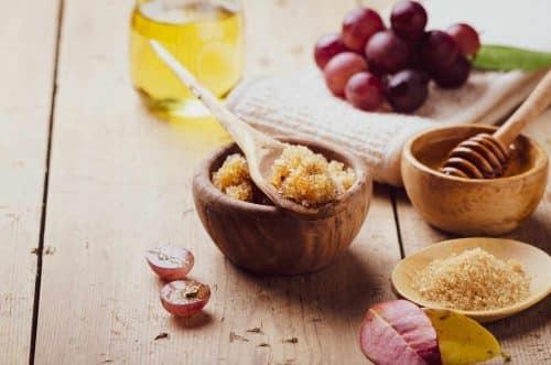 Gommage - miel - sucre - peau lisse