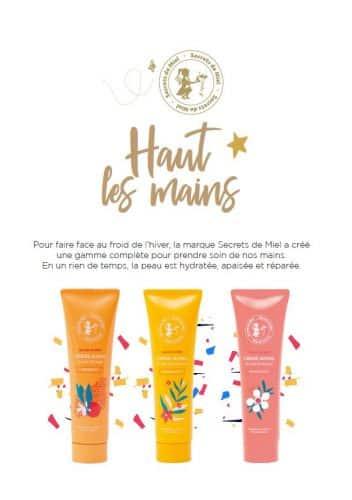 crème hydratante pour les mains - crèmes mains au miel - Manuka - Oranger - Printemps - Secrets de Miel - apithérapie - cosmétiques naturelles - mains sèches