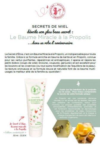 Baume miracle à la Propolis - Secret d'Elise - baume multiusage - propolis - Best seller - Secrets de Miel