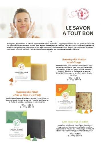 savons solides - shampooing solide - savon visage - savons 100% naturels - miels - produits de la ruche - propolis - Secrets de Miel