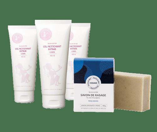 hygiène - gel intime - douche - produits naturels - Made in France - Secrets de Miel