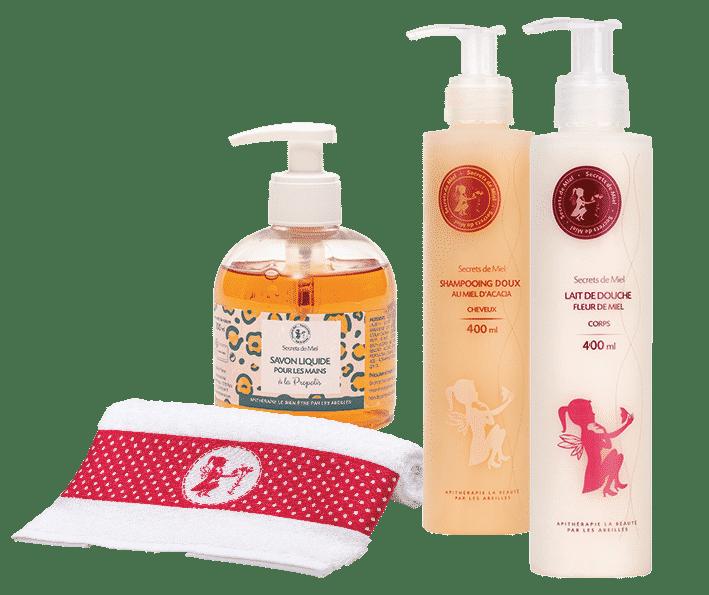 Secrets de Miel - produits familiaux - shampooings - salle de bain - Secrets de Miel - naturel